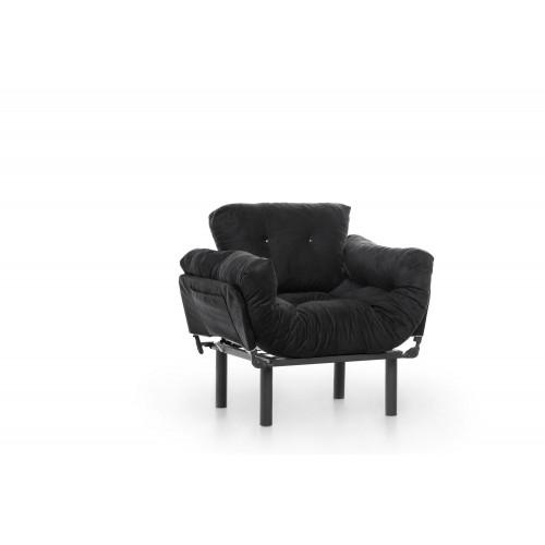 1 Seater Sofa Bed Nitta | Black