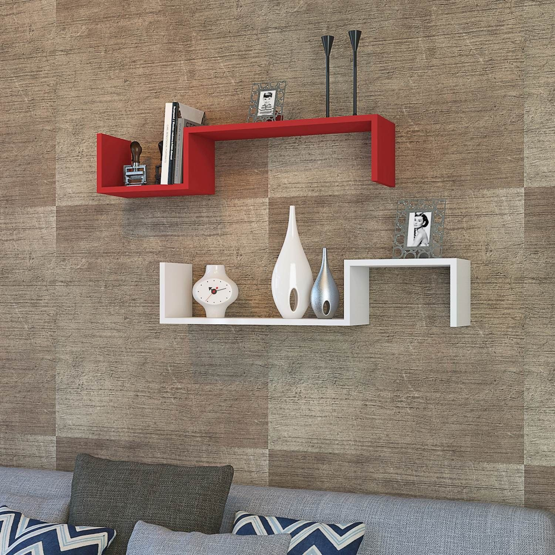 Shelf Liatris Set of 2 | Red & White