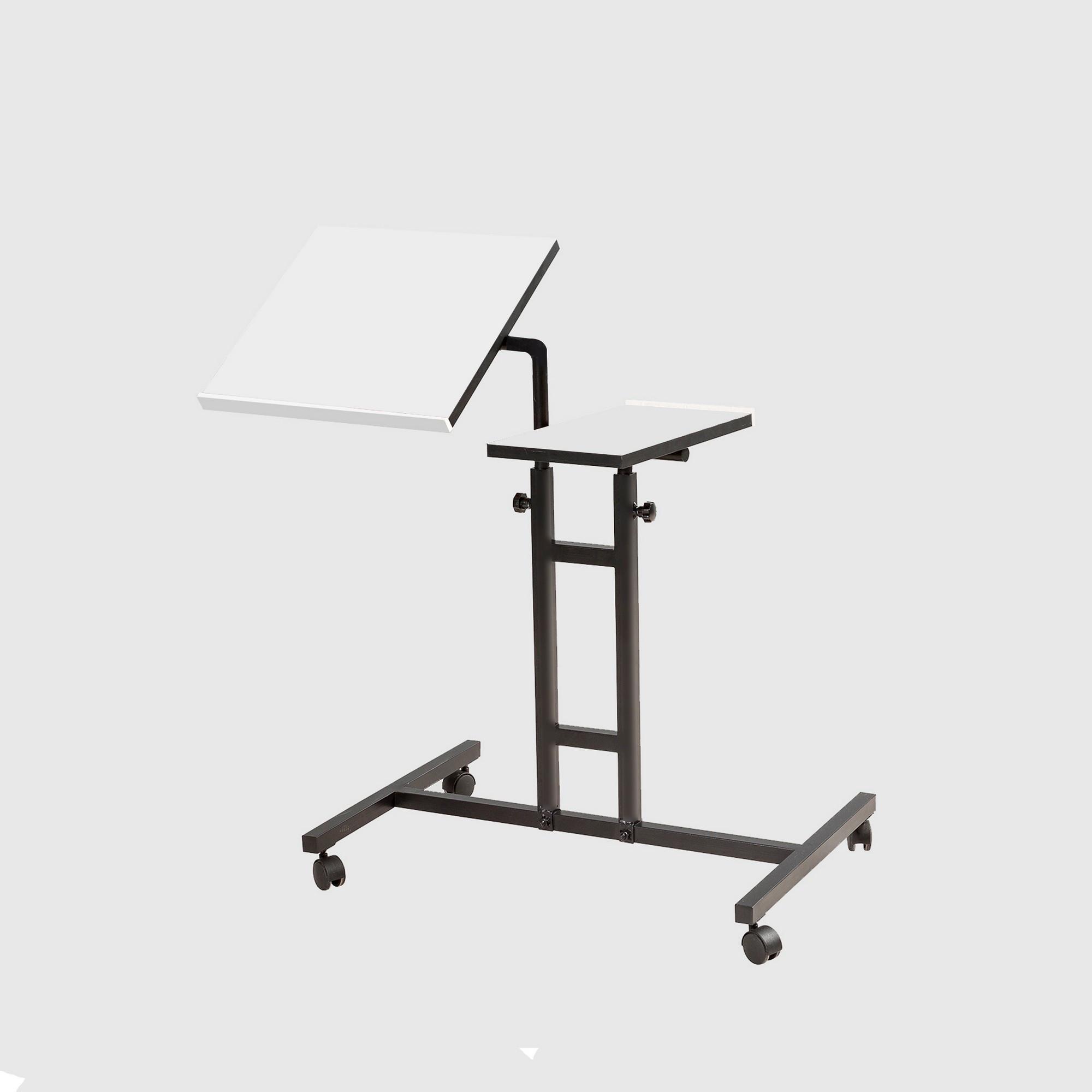 Verstellbarer Laptop-Stehtisch Glen | Weiß & Schwarz