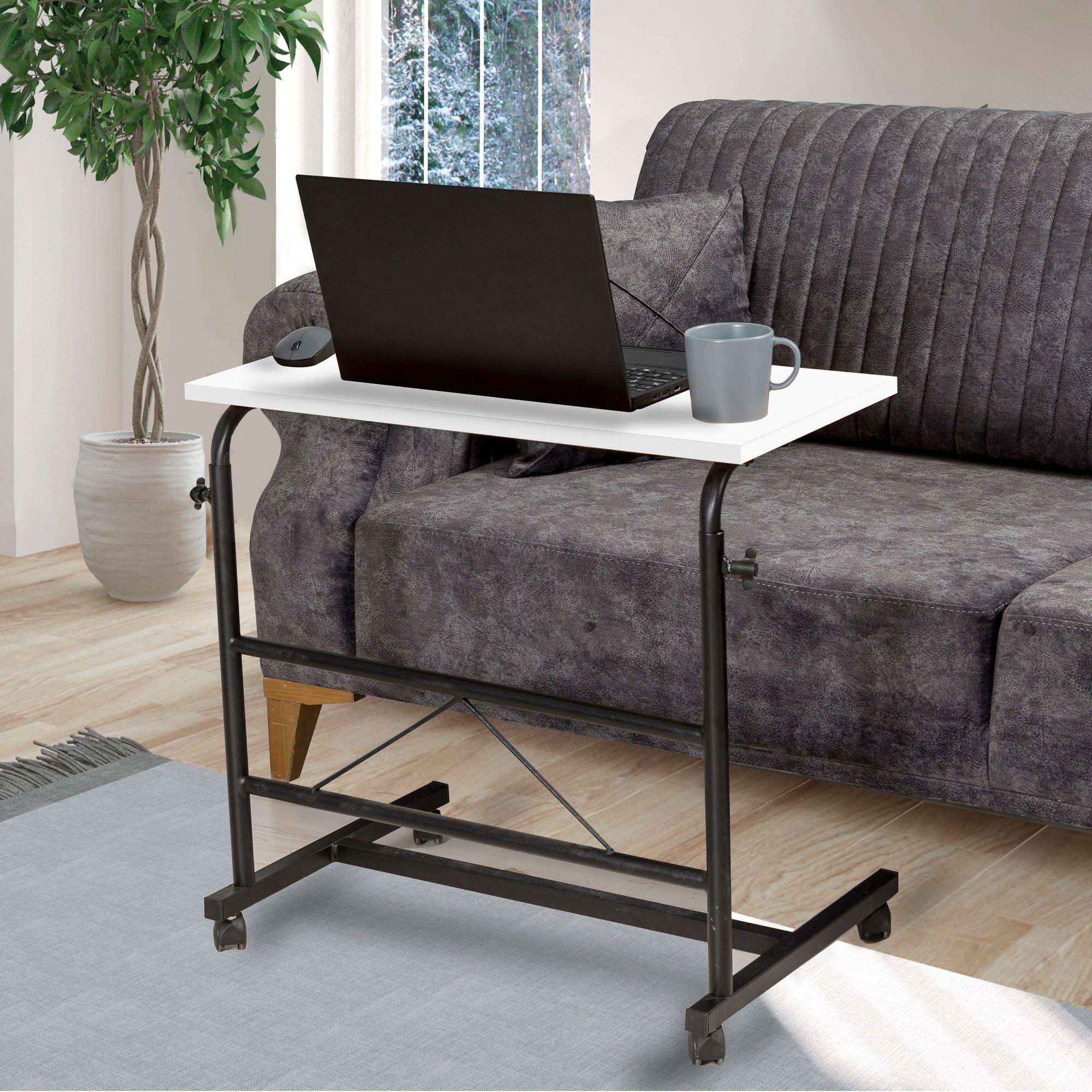 Verstellbarer Laptop-Stehtisch Aris | Schwarz & Weiss