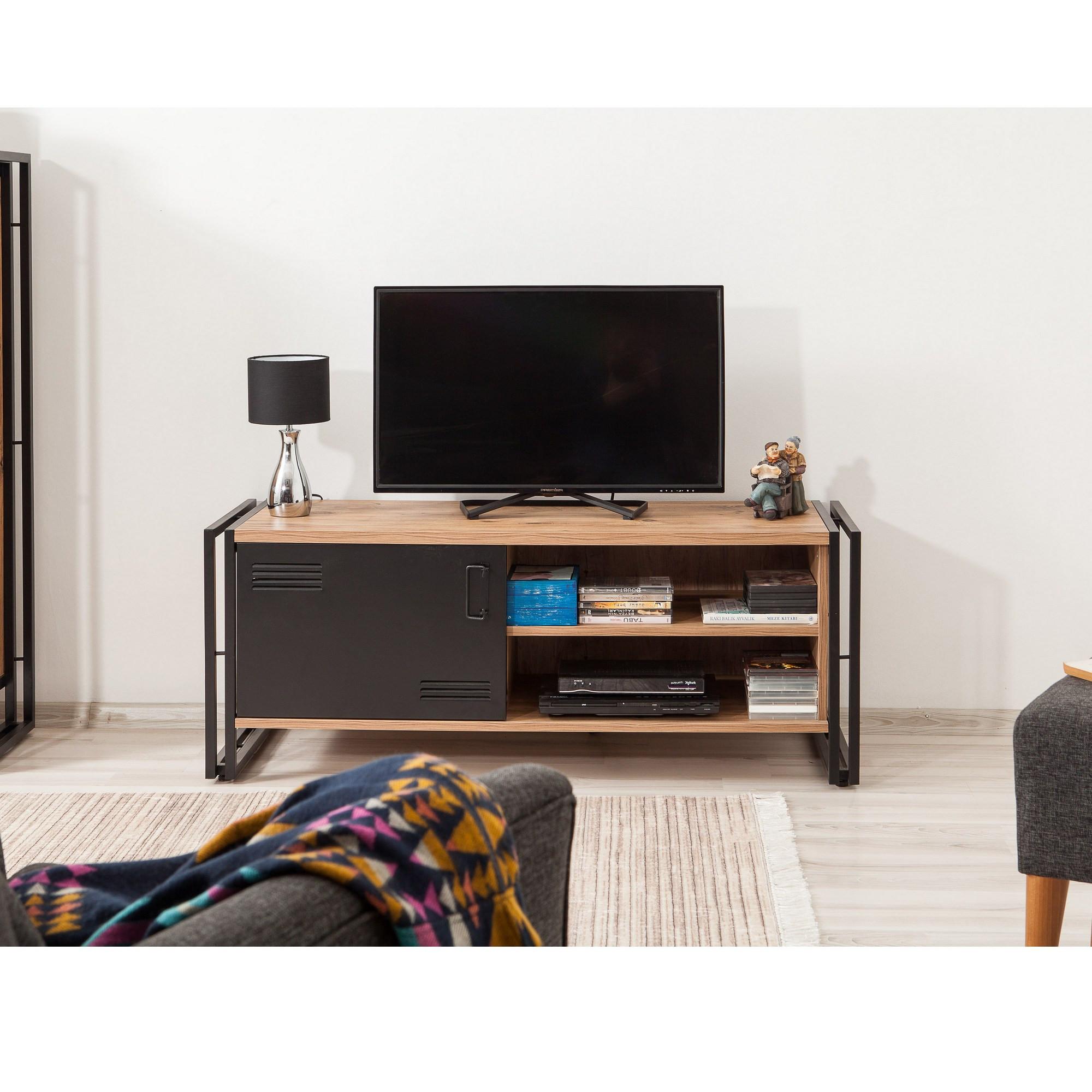 TV-Ständer Cosmo Foris | Schwarzkiefer