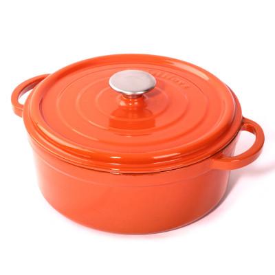 Cast Iron Casserole H 15 cm | Orange