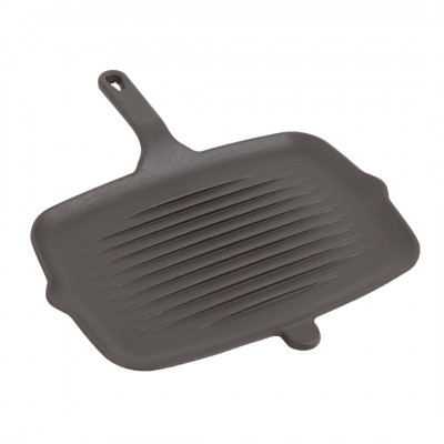 Cast Iron Grill Plate with Handle | Black