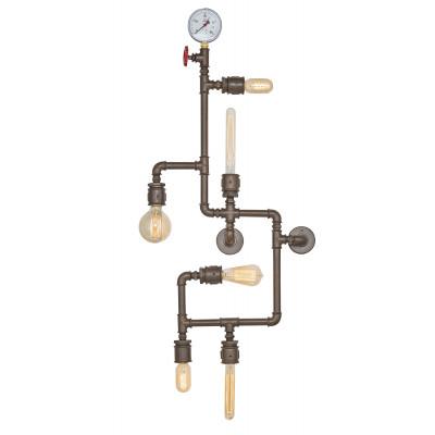 Metall-Wandlampe 20 x 120 x 50 cm | Dunkelbraun