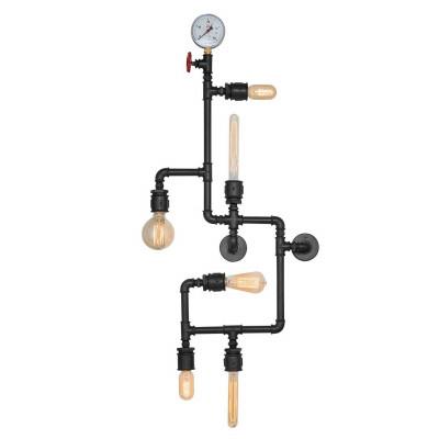 Metall-Wandlampe 120 x 20 x 50 cm | Schwarz