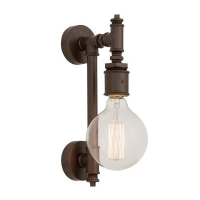 Metall-Wandlampe 34 x 34 x 8 cm | Dunkelbraun