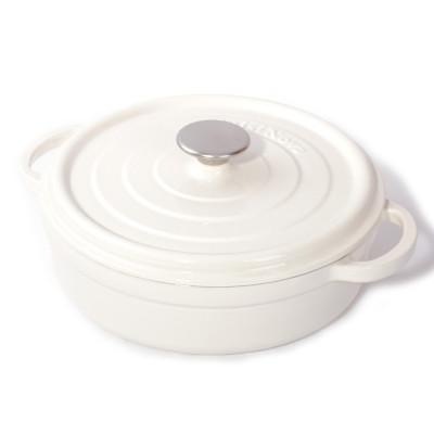 Gusseiserne Kasserolle H 15 cm | Weiß