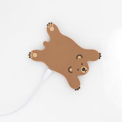 Drahtloses Ladegerät Bär | Braun