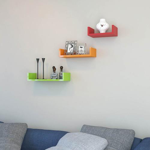 Shelf Lilium Set of 3 | Orange, Green & Red