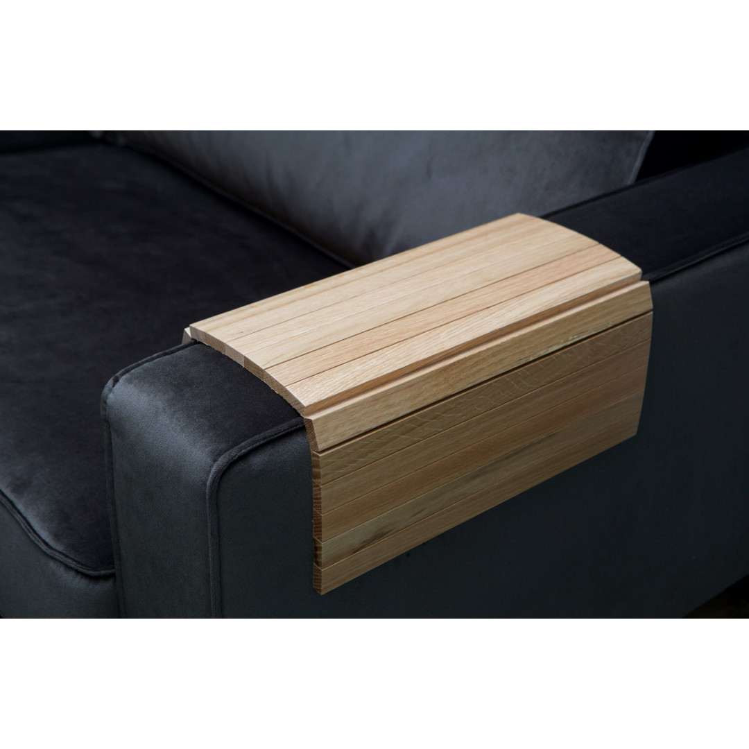 Flexible Wooden Armrest Tray XL | Oak