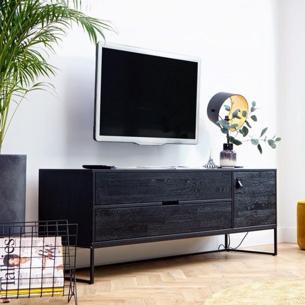 TV-Kabinett Silas   Schwarz