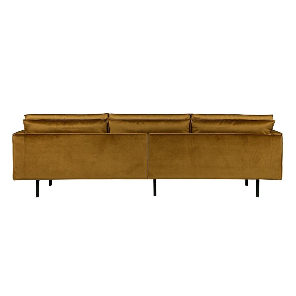 3-Sitzer-Sofa Rodeo Samt | Gelb