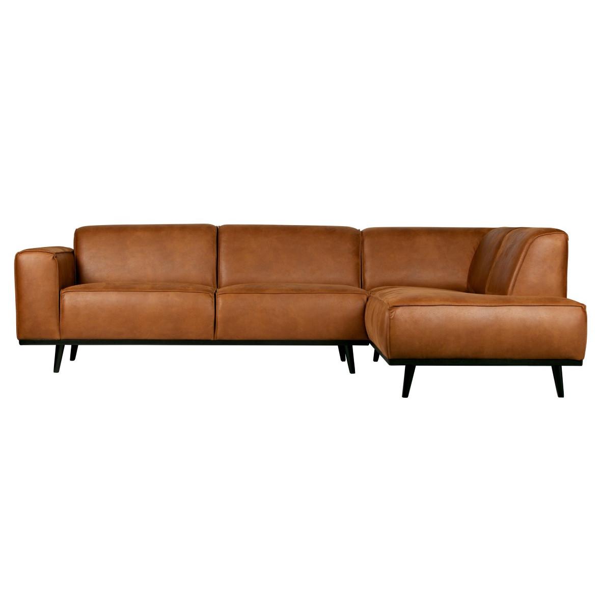 Sofa mit Récamiere Statement | Cognac