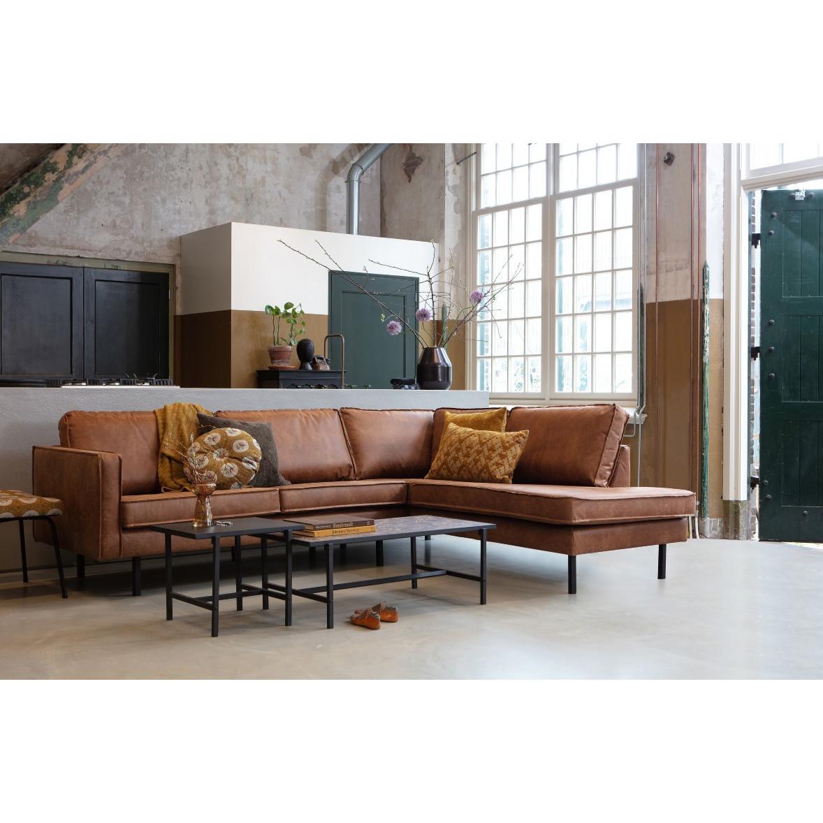 Right Corner Sofa Rodeo | Cognac