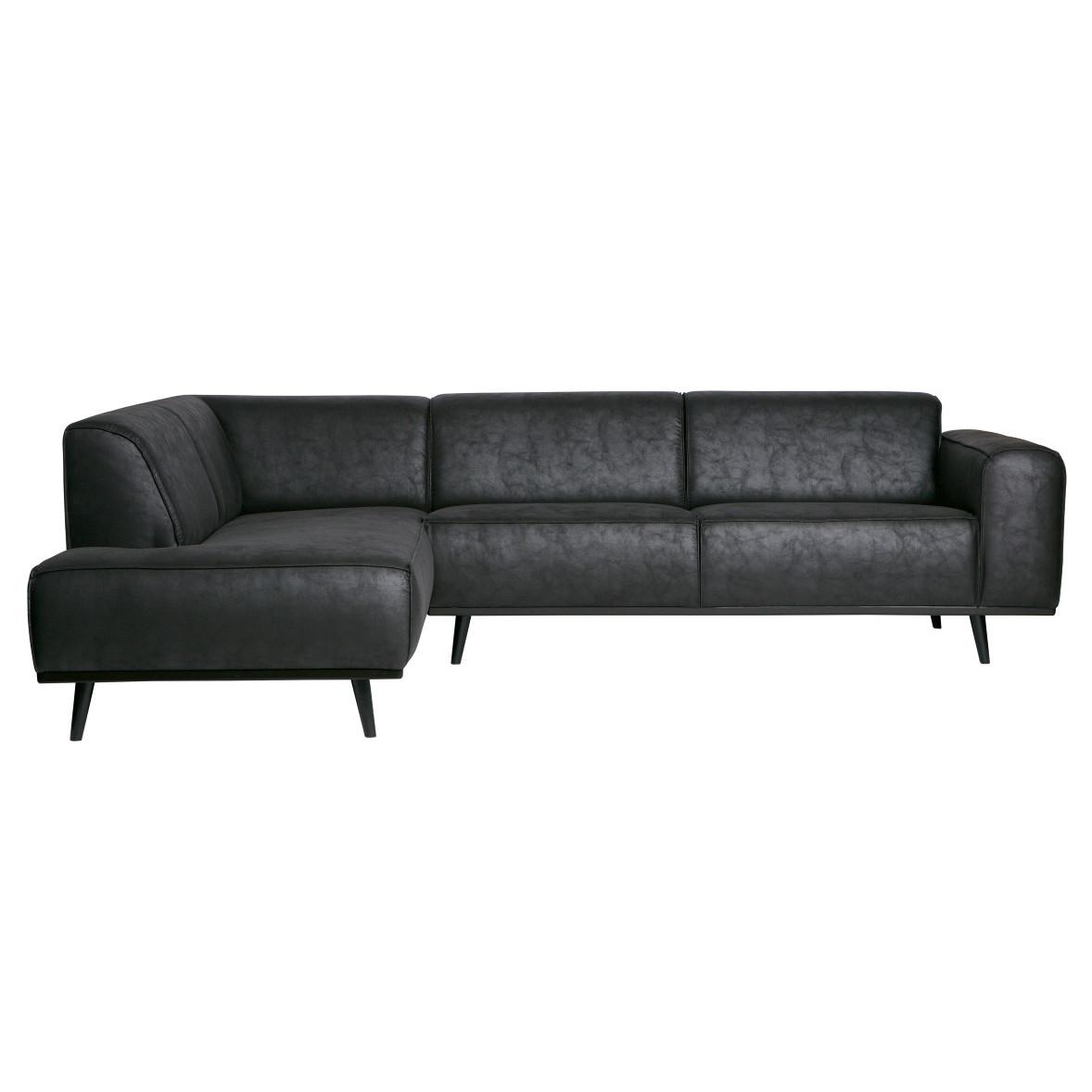 Sofa mit Récamiere Statement   Schwarz
