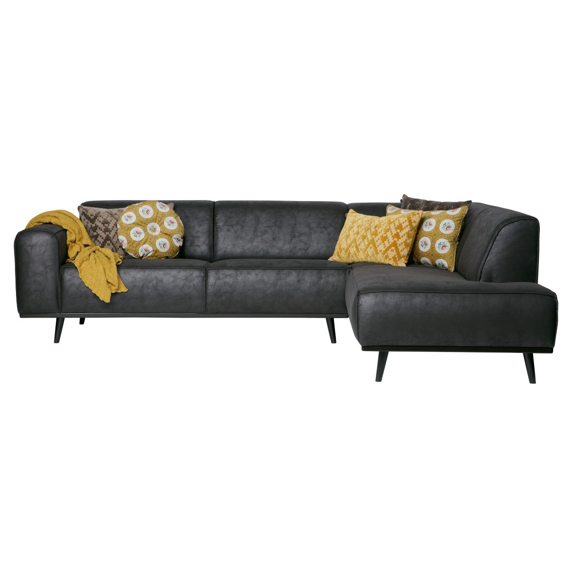 Corner Sofa Right Statement | Black