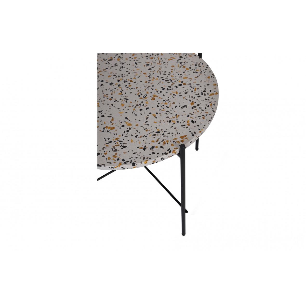 Side Table Vayen Terrazzo 37 x 83 | Grey
