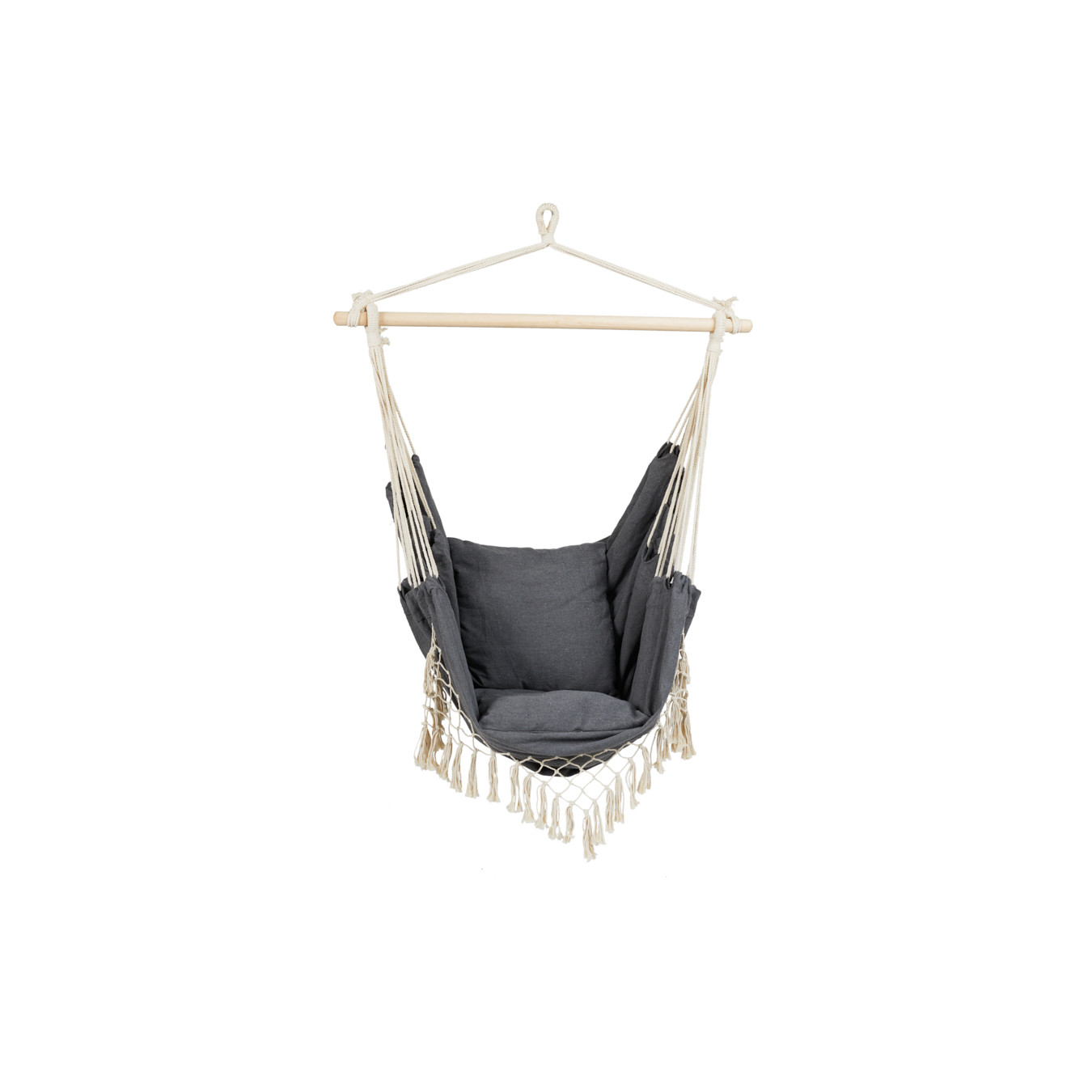 Hanging Chair with Cushions | Grey