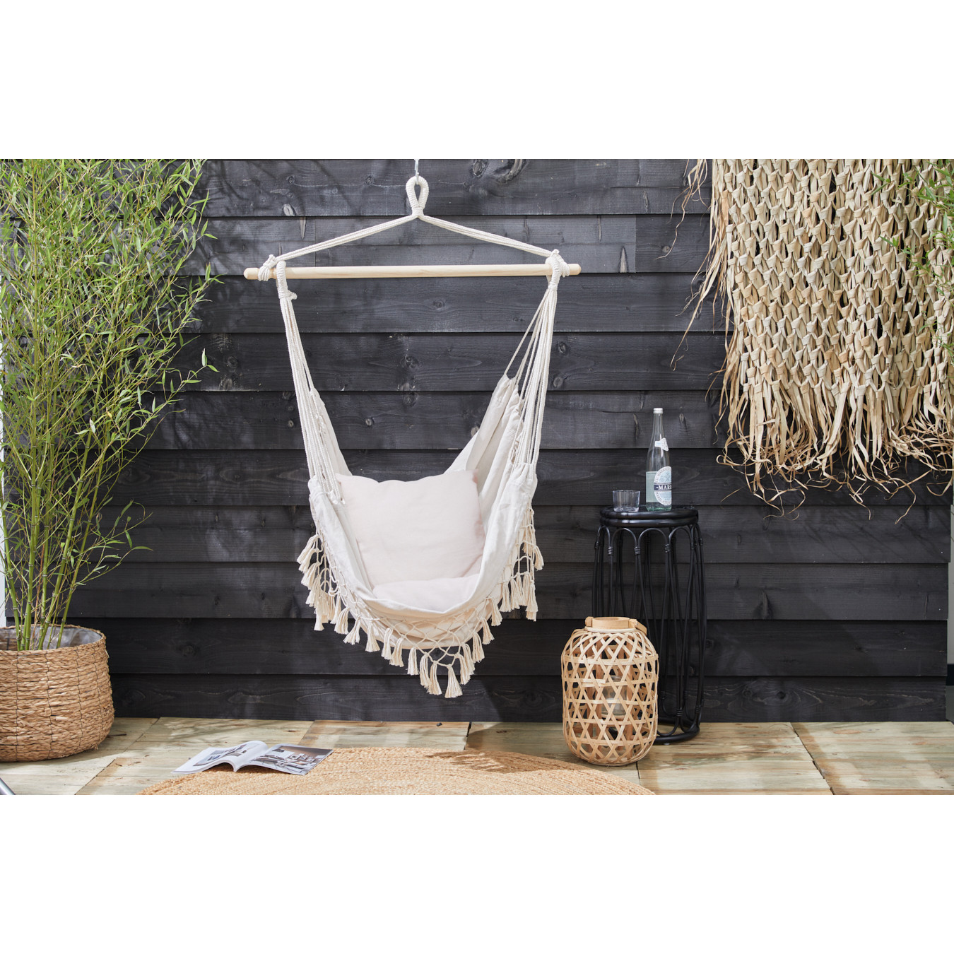 Hanging Chair with Cushions | Ecru