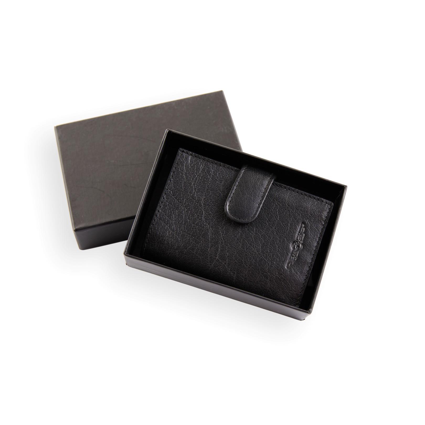 Intelligente Brieftasche aus Leder | Schwarz