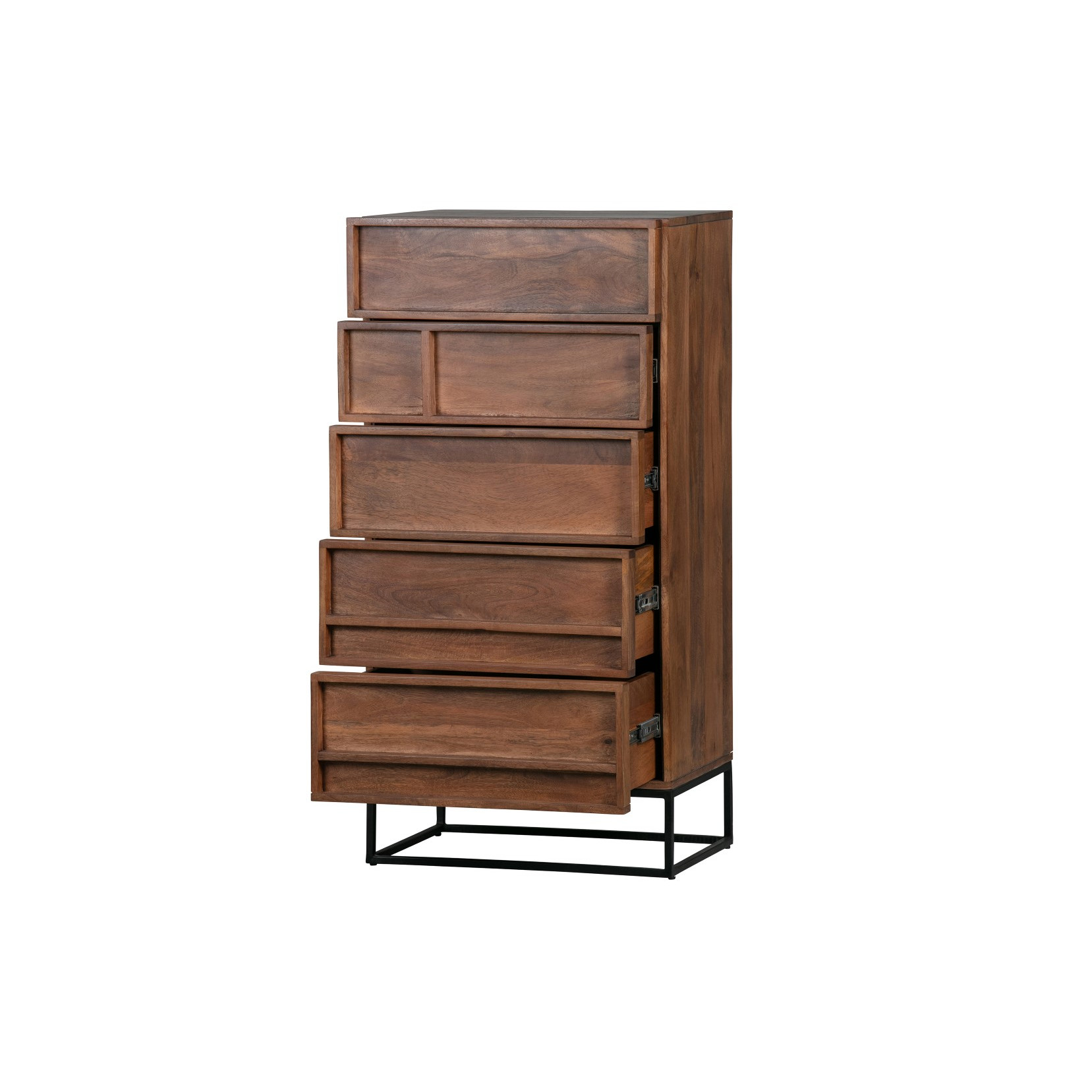 Kabinett mit 5 Schubladen Forrest Mangoholz