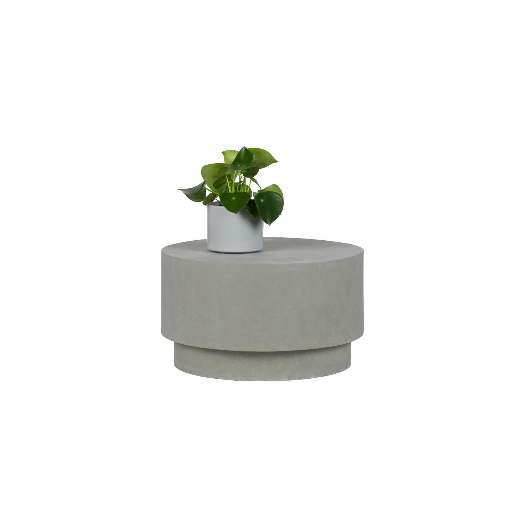 Kaffeetisch für Draußen Dean Ø 60 cm | Grau