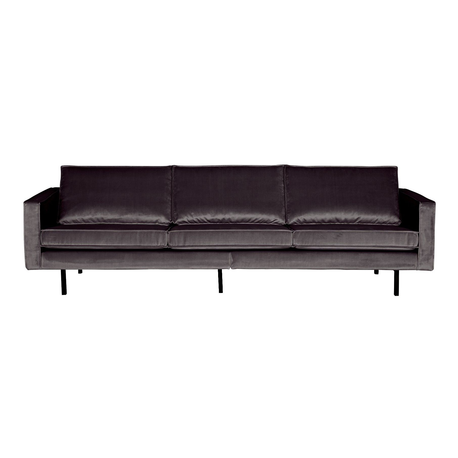 3-Sitzer-Sofa Rodeo Samt | Anthrazit