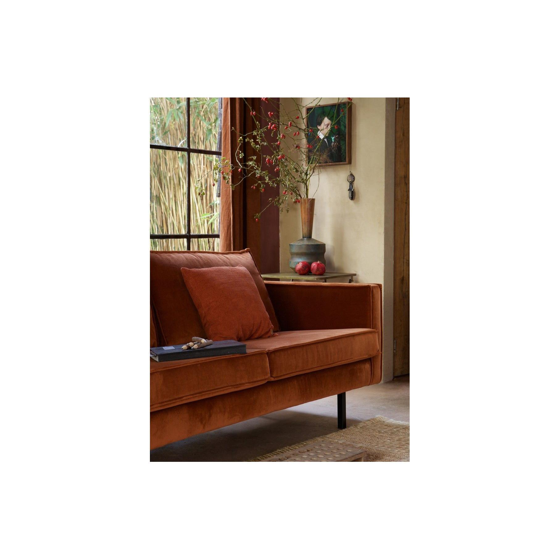3 Seater Sofa Rodeo Velvet | Rust
