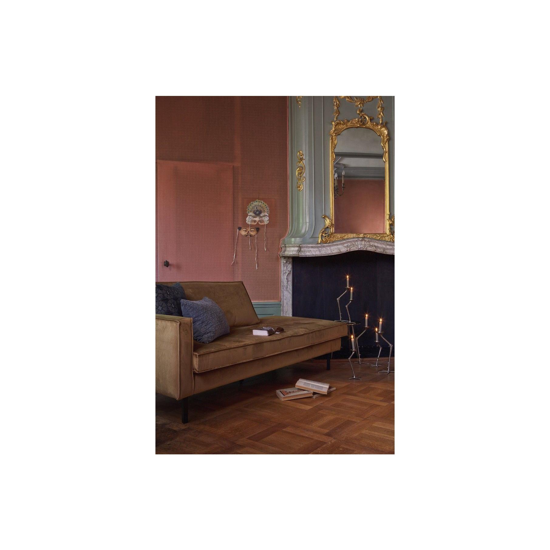 Tagesbett mit Récamiere Rechts | Gelb