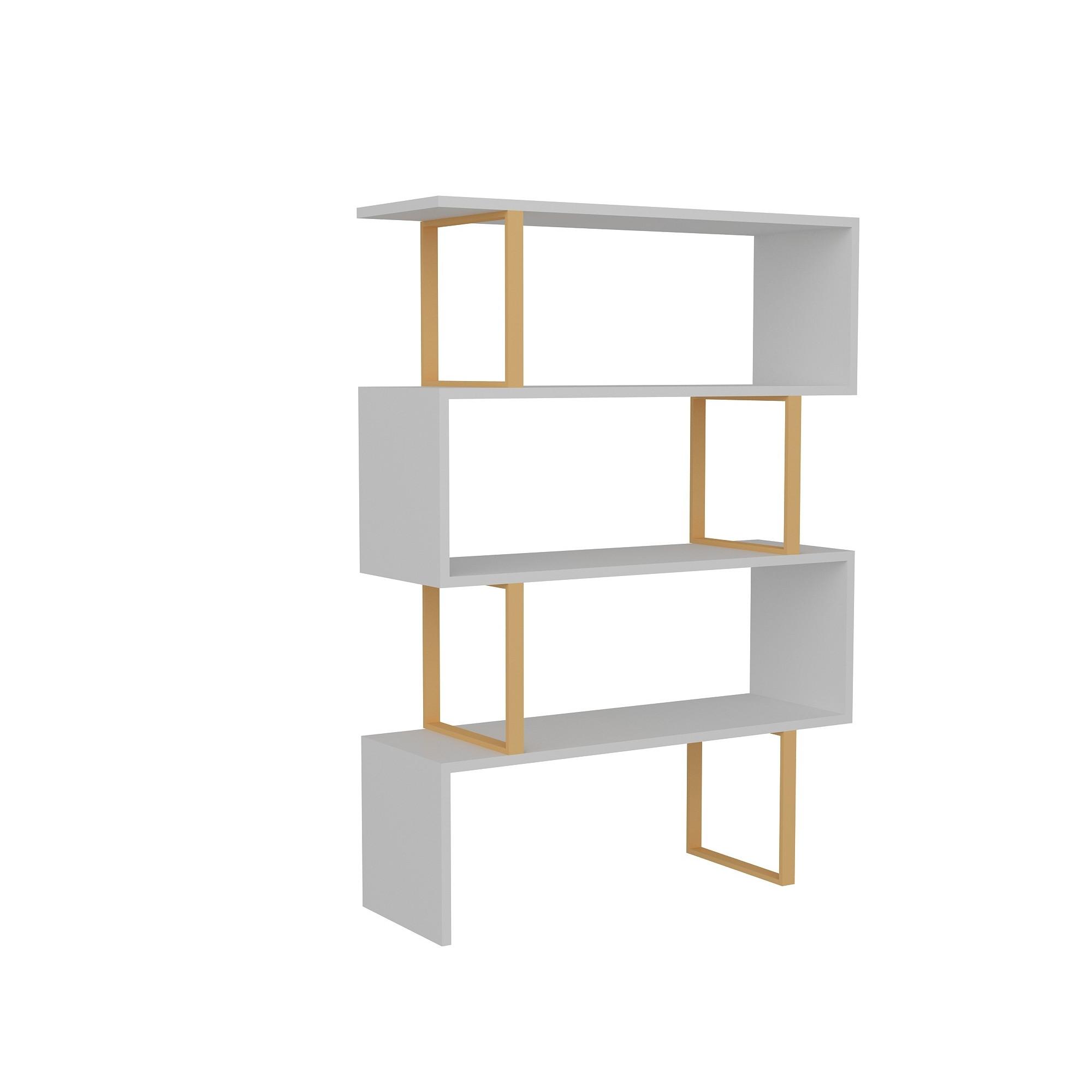 Bookshelf Adriana   White / Gold