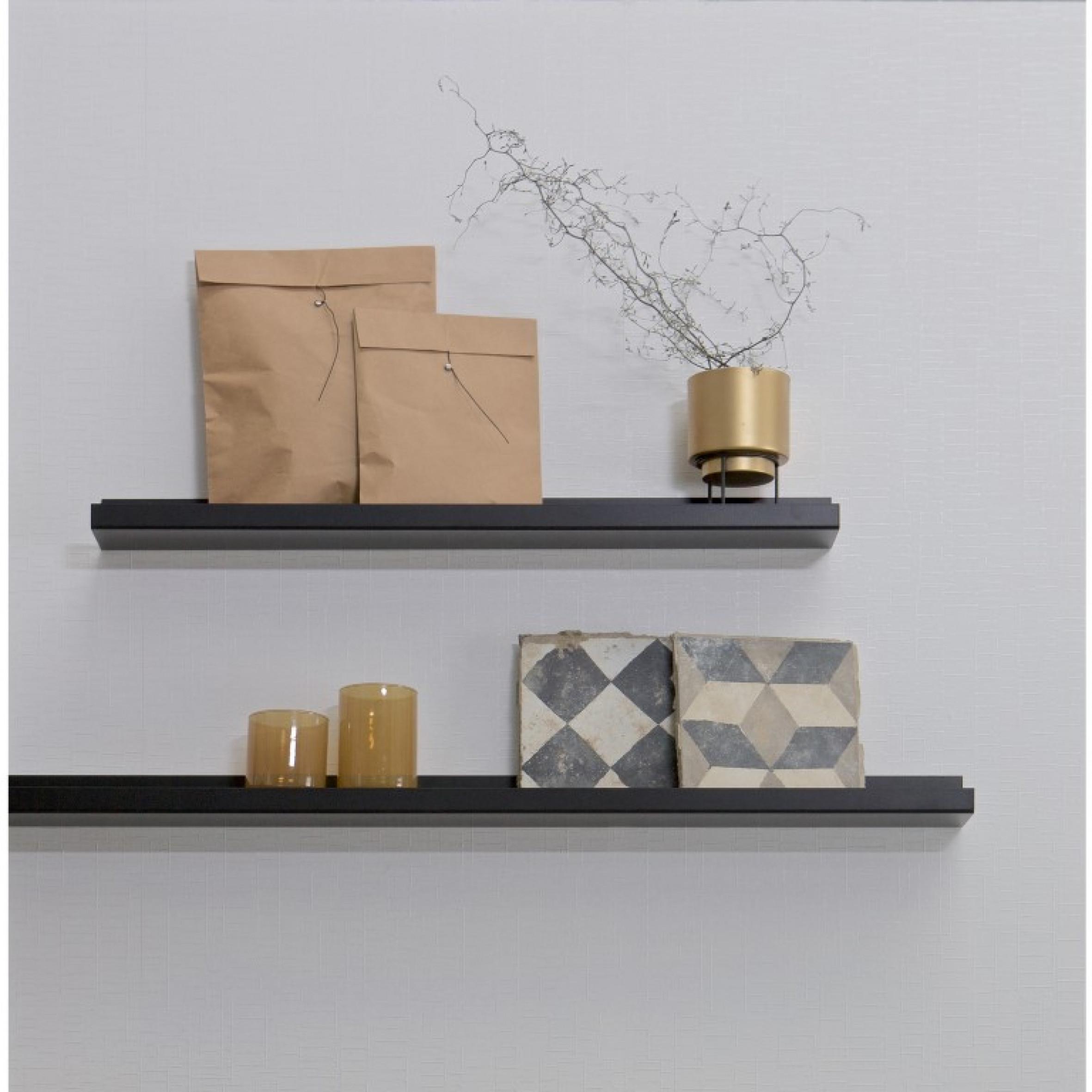 Shelf for Picture Frames Ravi 80 cm | Black DISCONTINUED