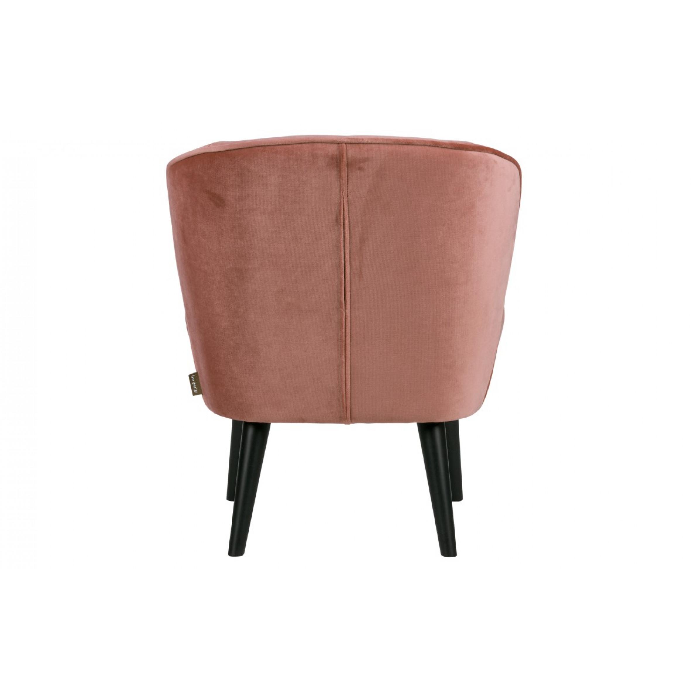 Armchair Sara | Velvet Pink