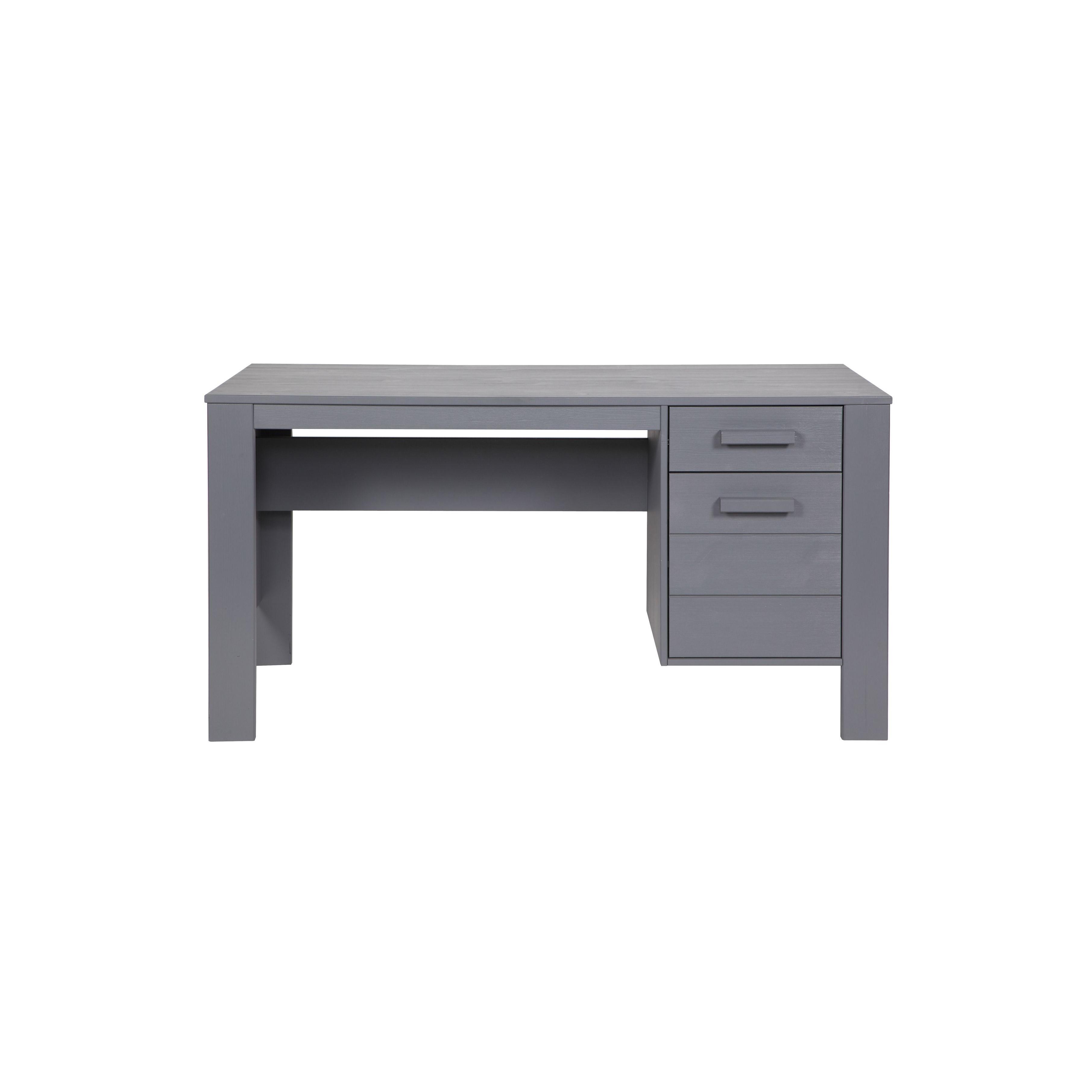 Dennis Schreibtisch | Stahlgrau