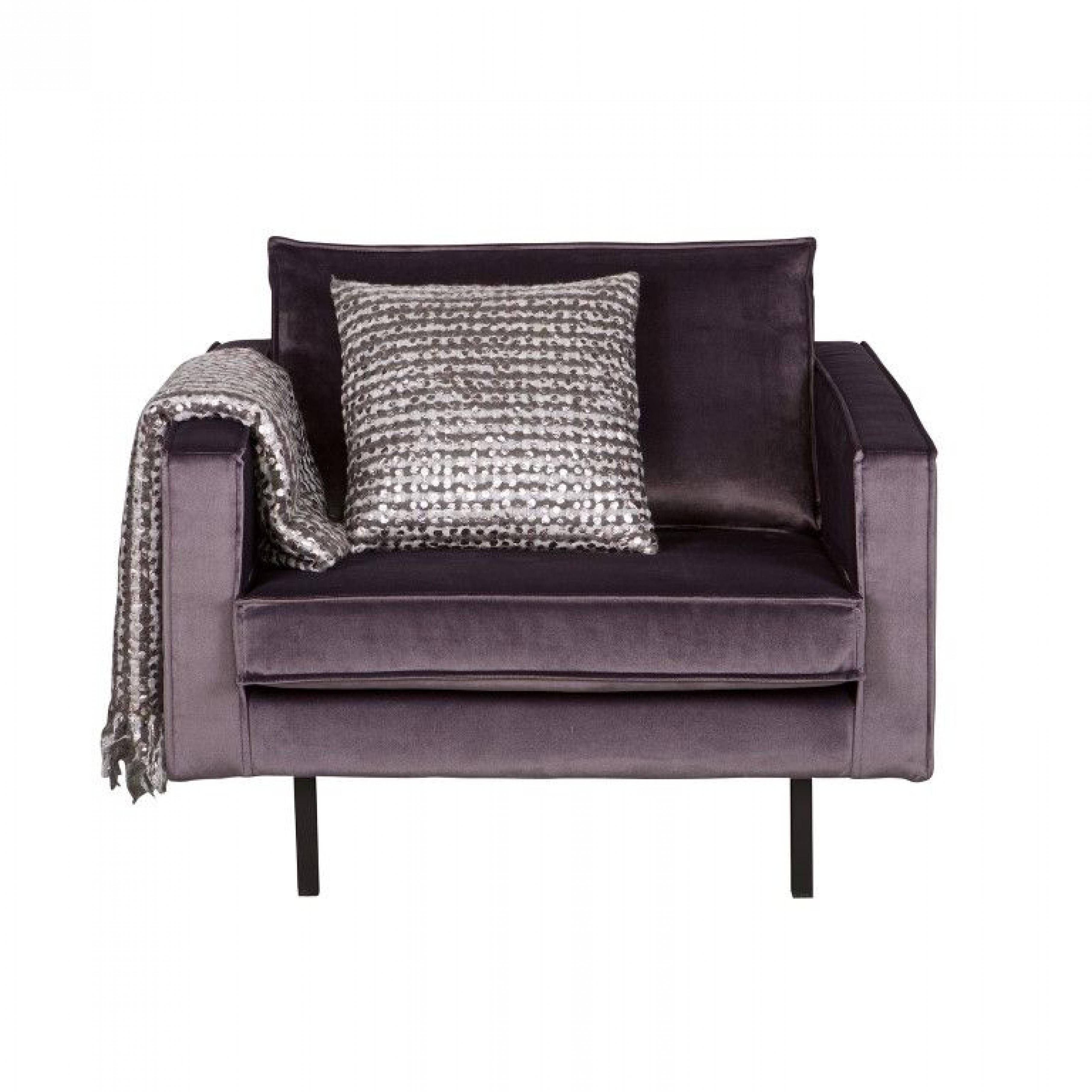 Sessel | Samt Grau