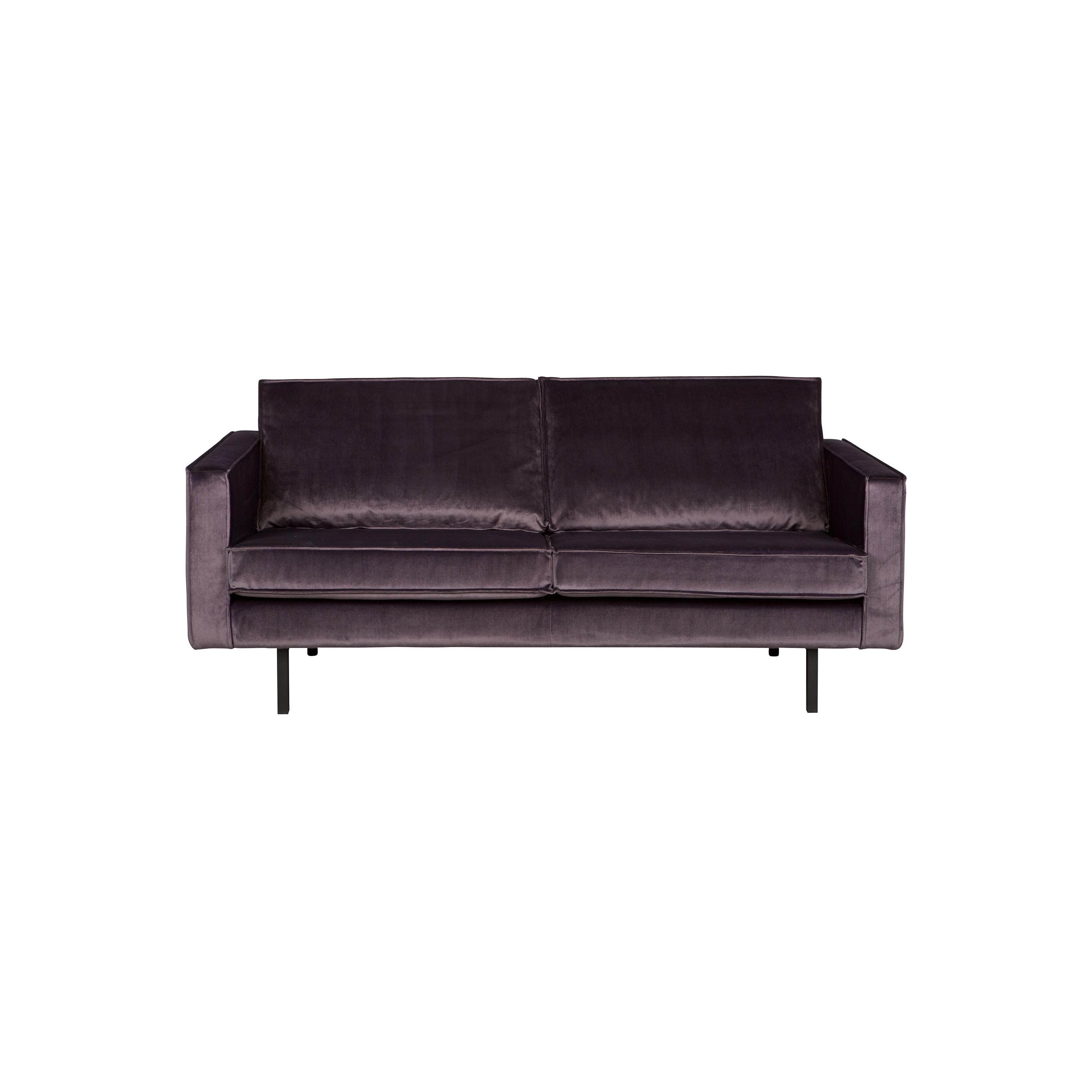 2,5-Sitzer Sofa Rodeo Samt | Dunkelgrau