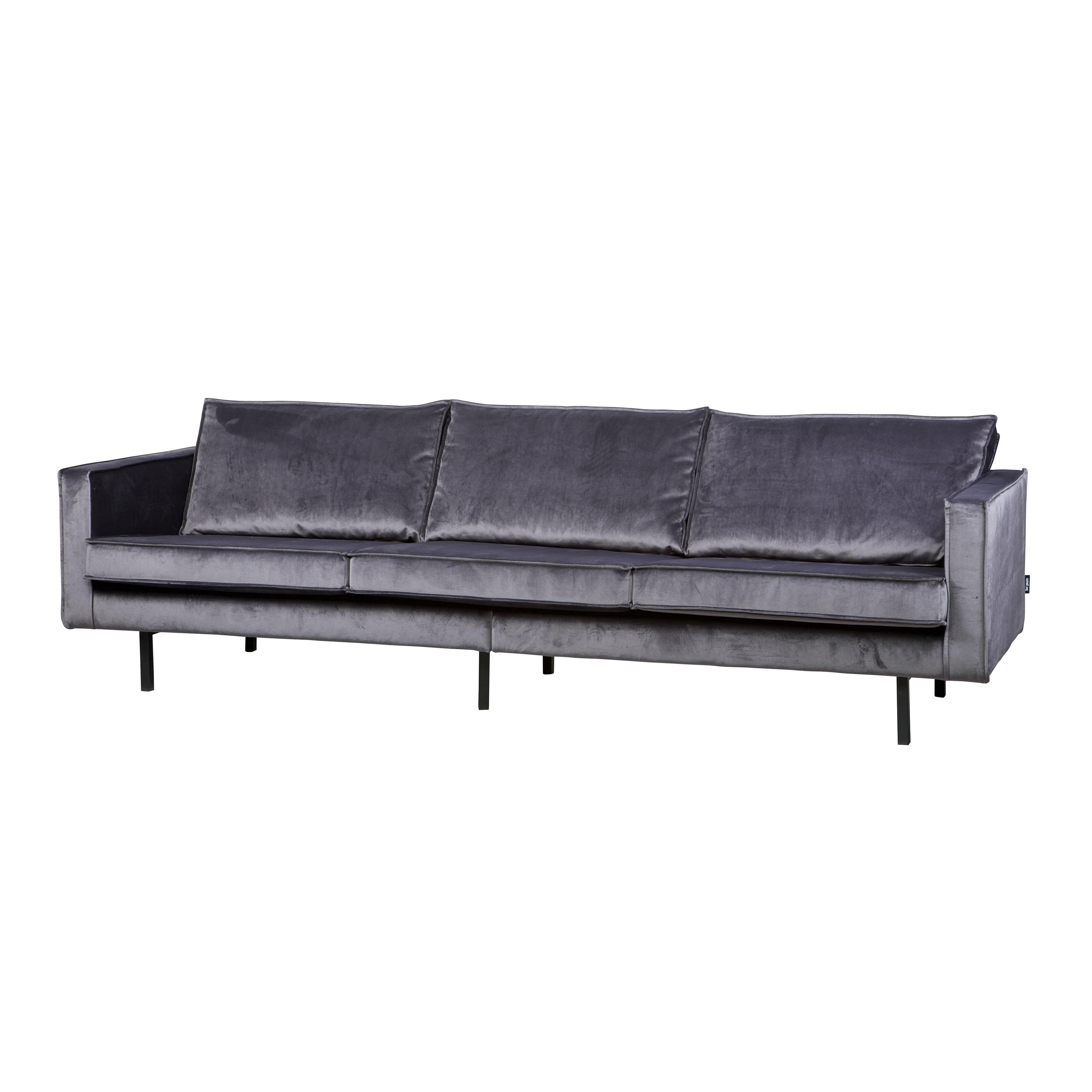 3-Sitzer-Sofa Rodeo Samt | Grau