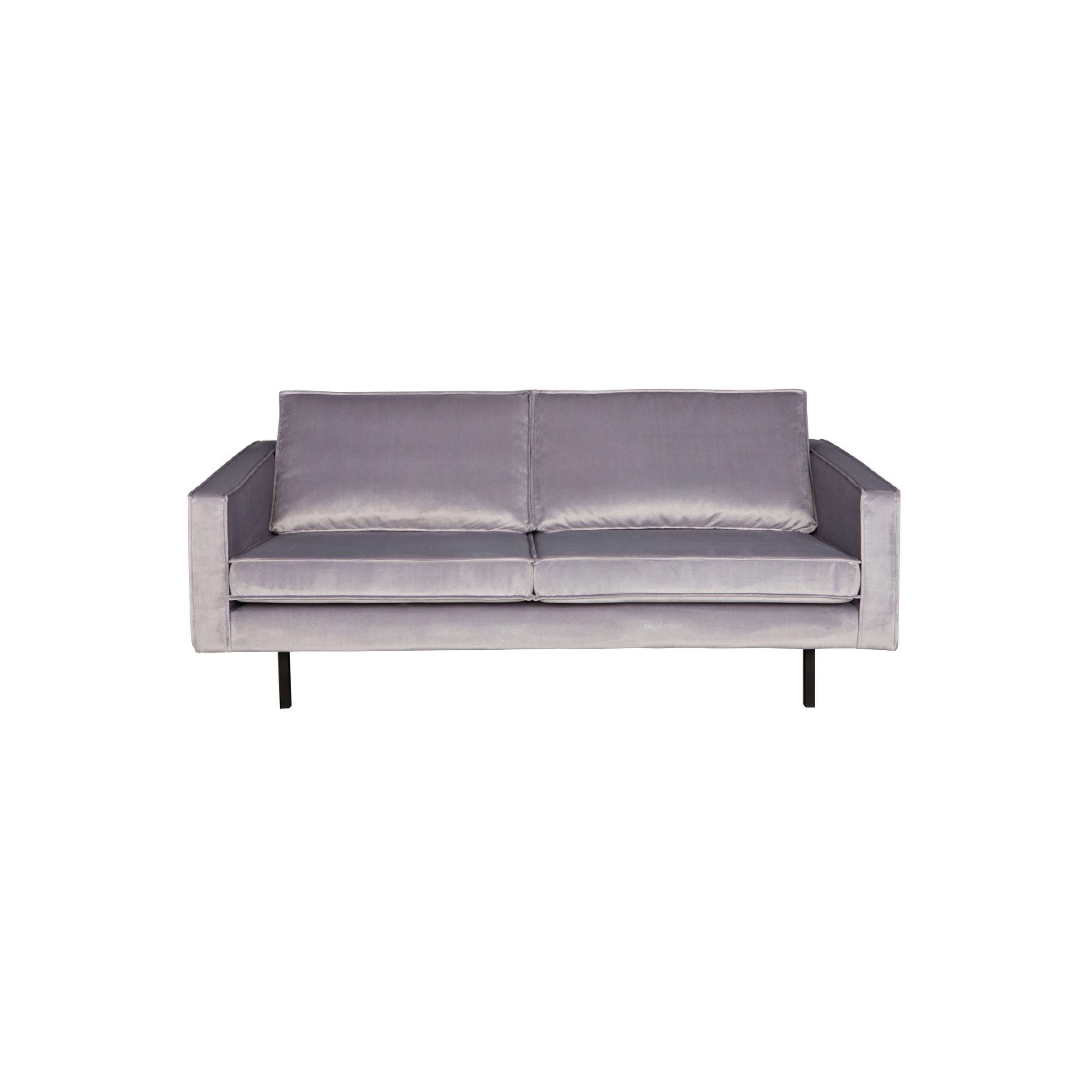 2,5-Sitzer Sofa Rodeo Samt | Hellgrau