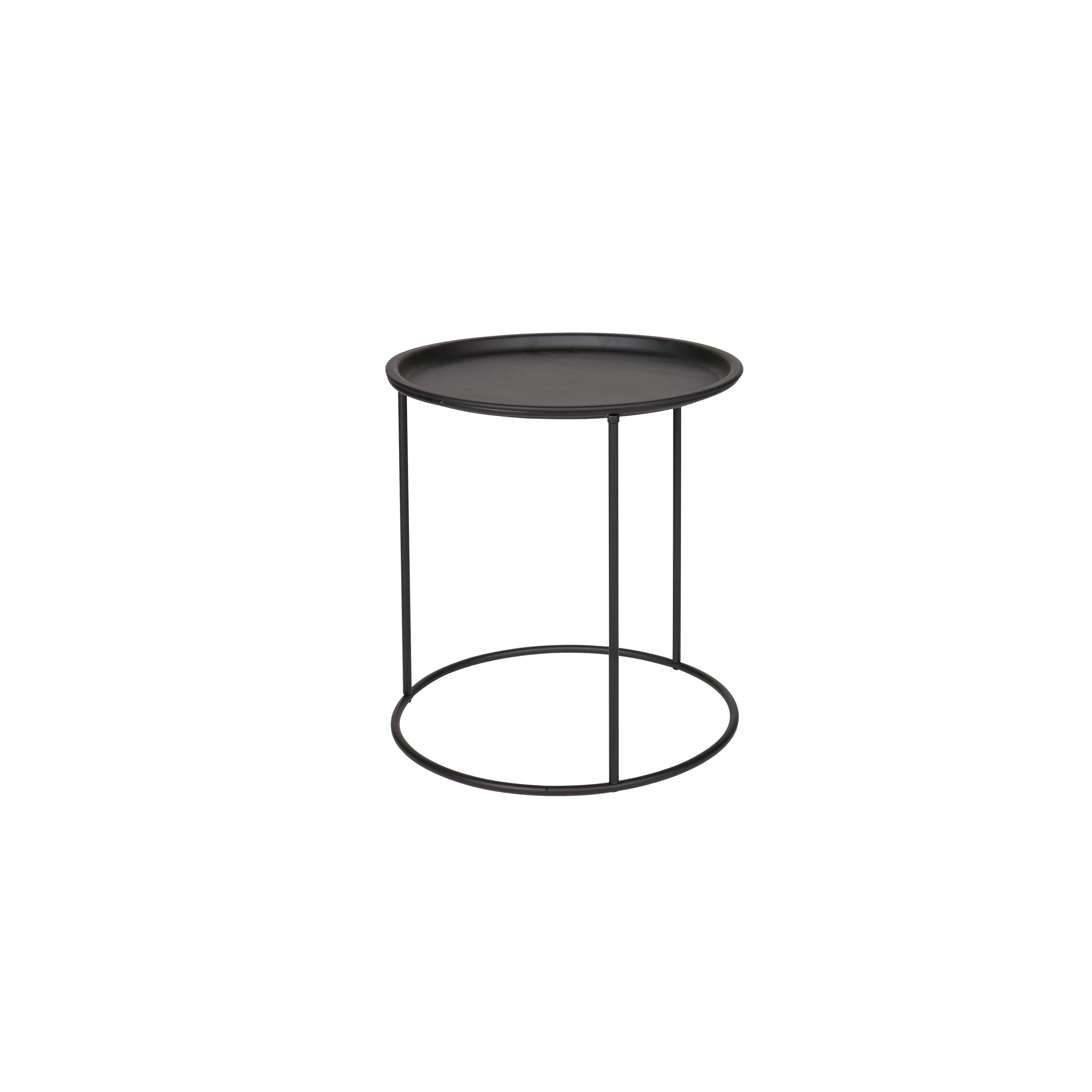 Side Table Ivar Ø 40 cm | Black