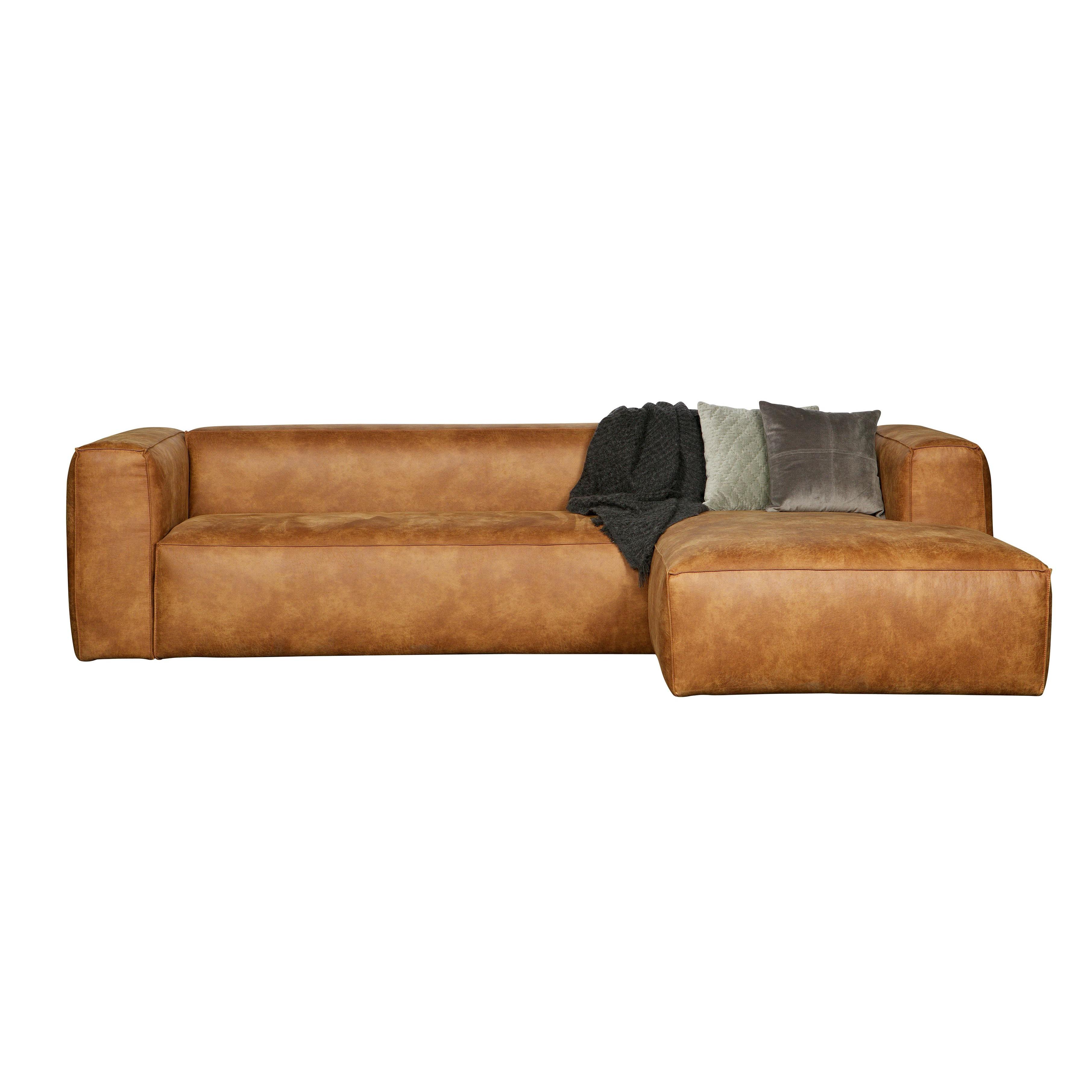 Corner Sofa Right Bean | Cognac