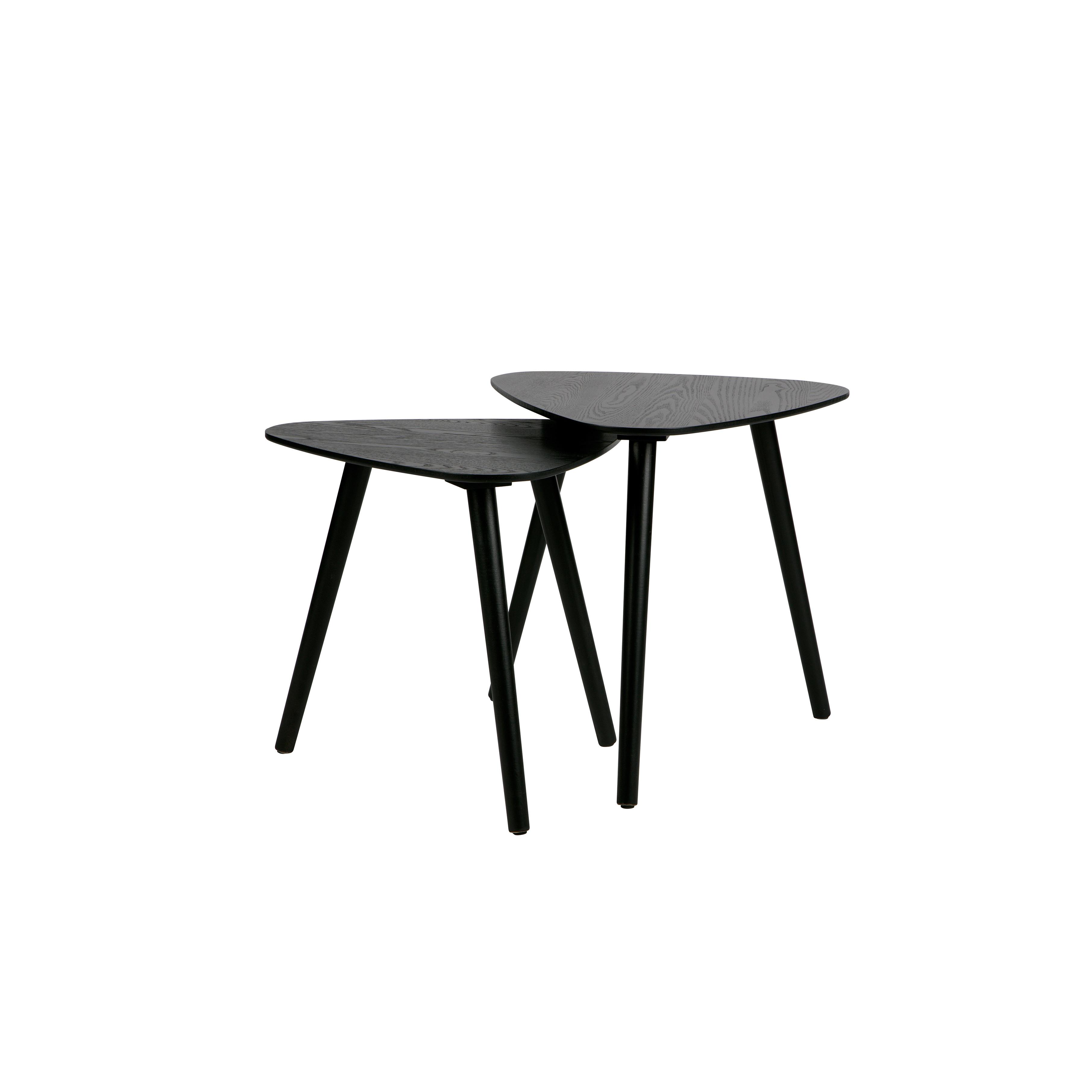 Set of 2 Side Tables Nila   Black