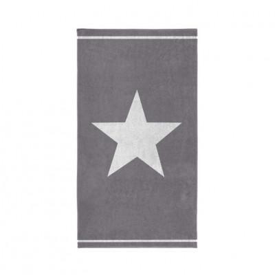 Beach Towel Star   Grey