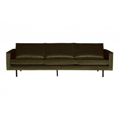 3-Sitzer-Sofa Rodeo Samt | Grün