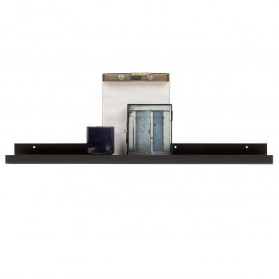 Regal für Bilderrahmen Ravi 80 cm | Schwarz