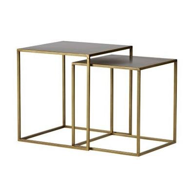 Side Tables Zita Set of 2 | Brass