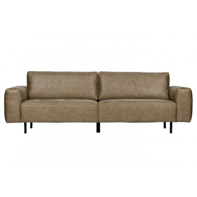 3-Sitzer-Sofa-Rückstoß | Cappuccino