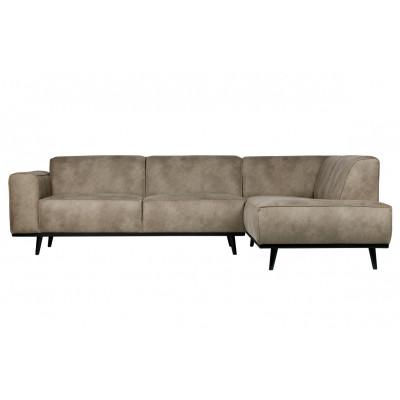 Sofa mit Récamiere Rechts | Grau