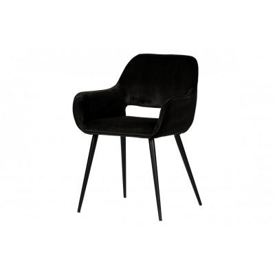 2-er Set Stühle Samt Jelle | Schwarz