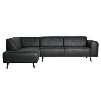 Sofa mit Récamiere Statement | Schwarz