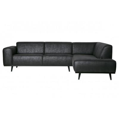 Sofa mit Récamiere Rechts | Schwarz