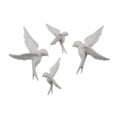 Vögel Dekorative Satz von 4